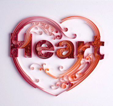 heart paper illustration
