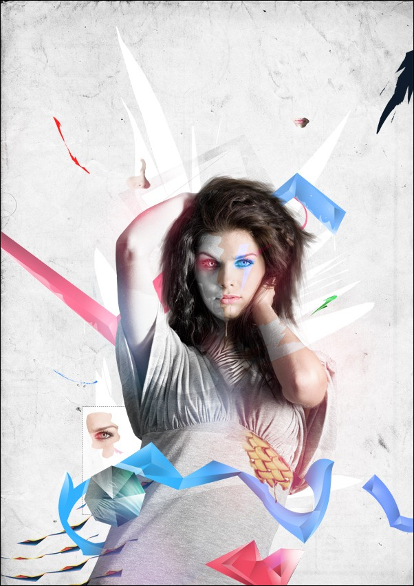 photoshop colorful illustration by patterns and shapes