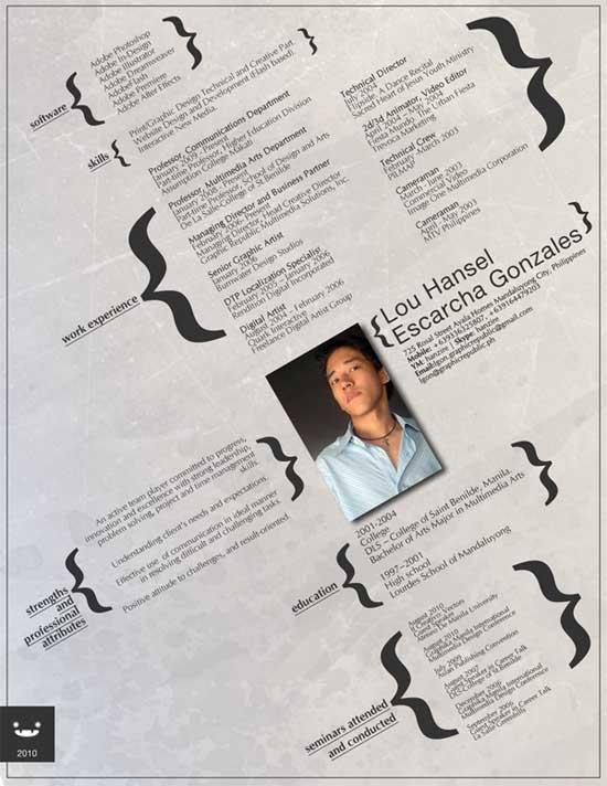 creative resume design 13