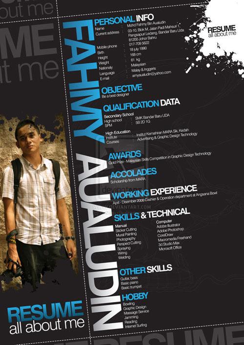 creative resume design 19