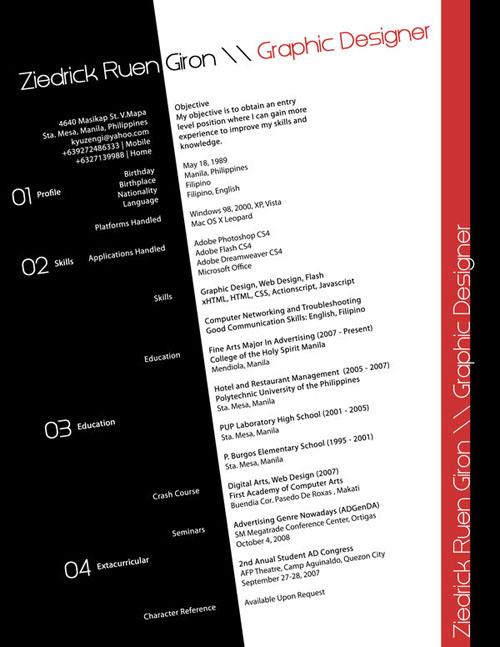 creative resume design 22