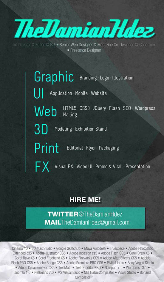 creative resume design 6