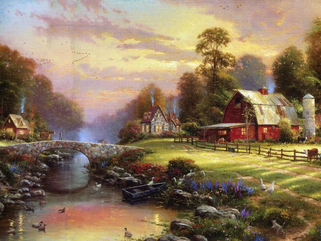 disney paintings thomas kinkade 2