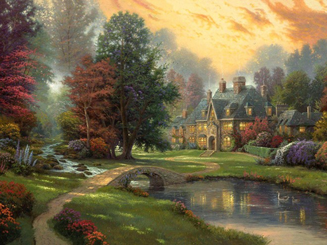disney paintings thomas kinkade 5