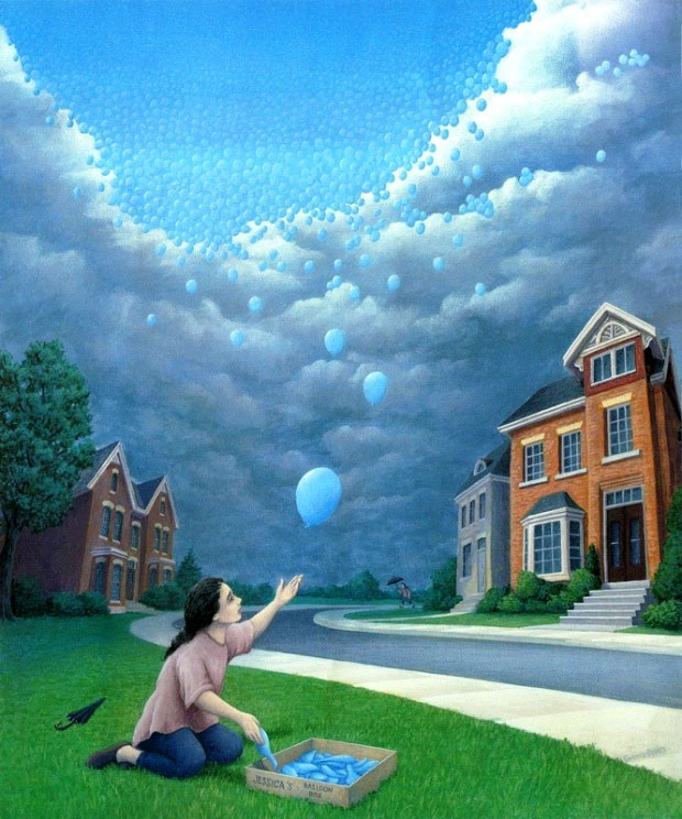 illusion art painting