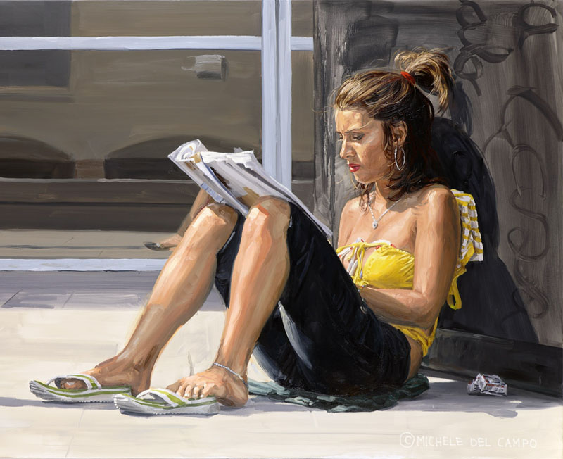 Michele Del Campo paintings modern youth youngster urban city beautiful best