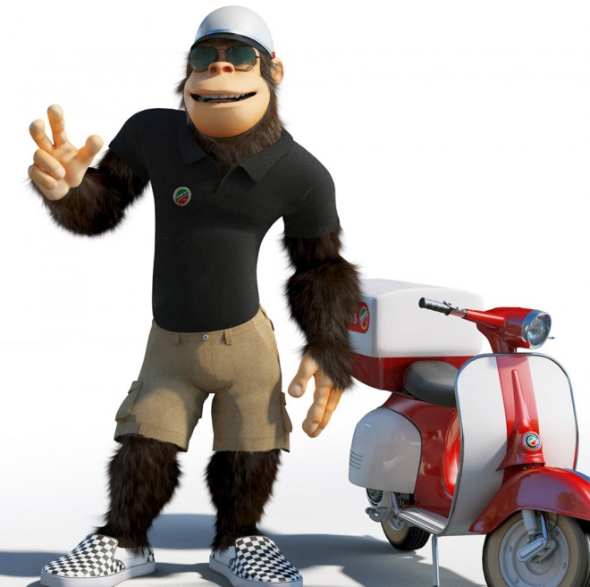monkey 3d character mega pizza delivery 2