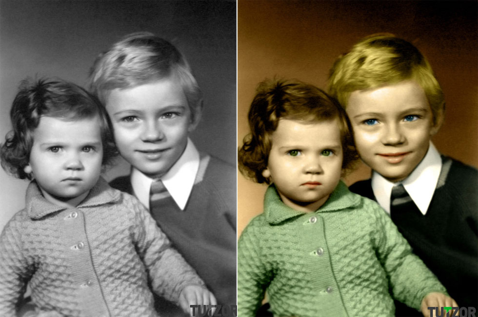 old photo colouring photoshop