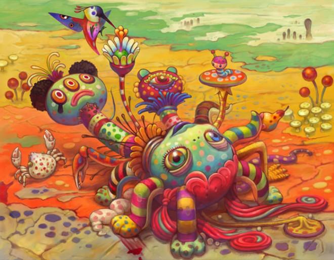 yoko d holbachie painting art illustration 1