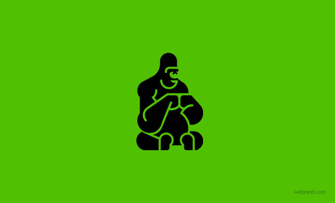 logo design gorilla by martigny