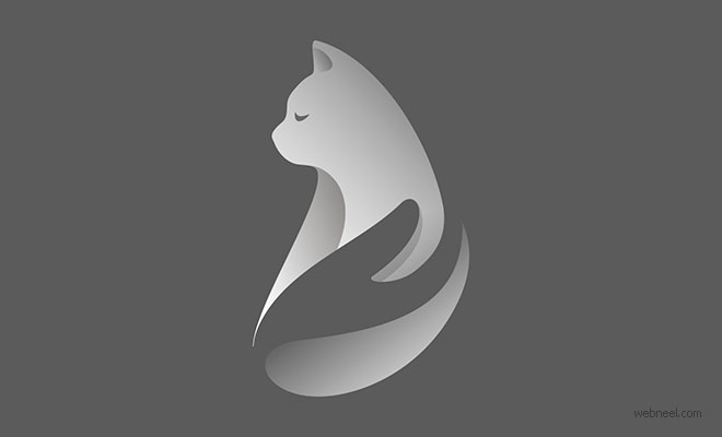 cat logo design by guga bigvava