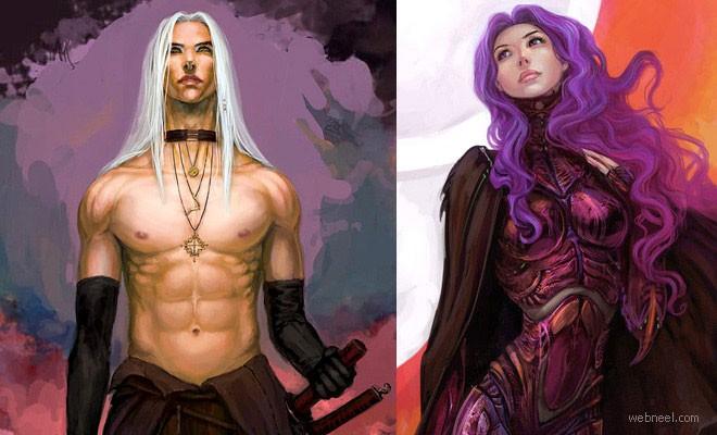 25 Beautiful Digital Fantasy Art works by freelance Illustrator Anndr Kusuriuri