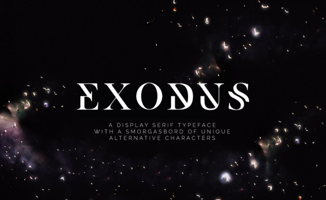 free font exodus by andrew herndon