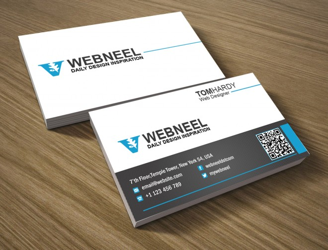 simple business card template 11