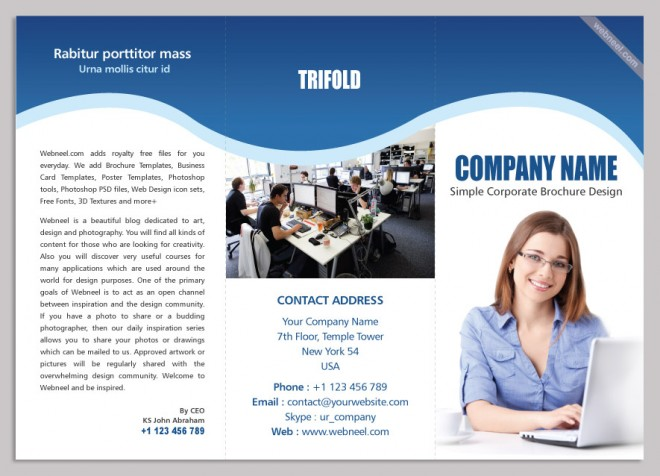 13 corporate trifold brochure design template