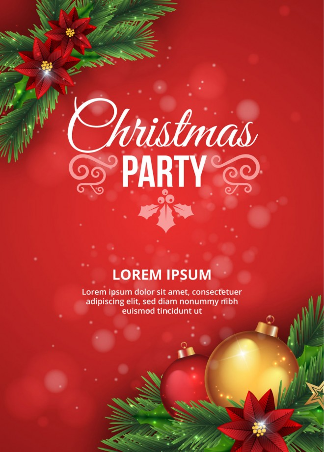 free christmas vector party poster