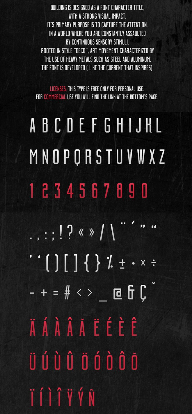 modern free font - building