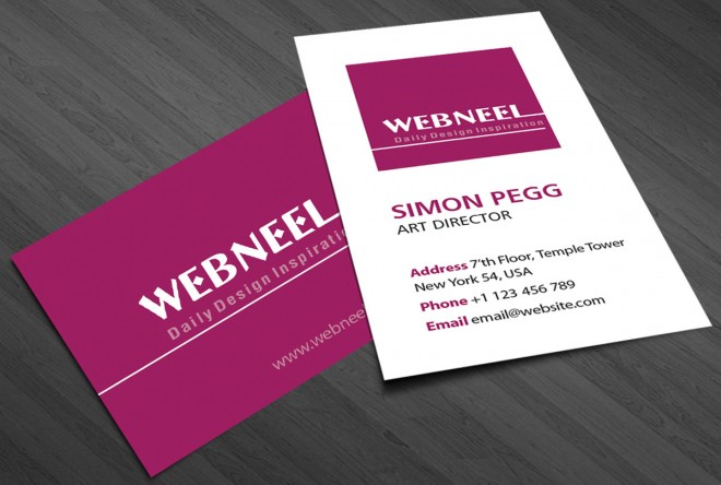 simple business card template 20