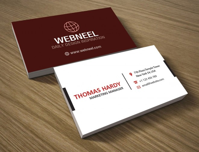 22 modern business card template - free download