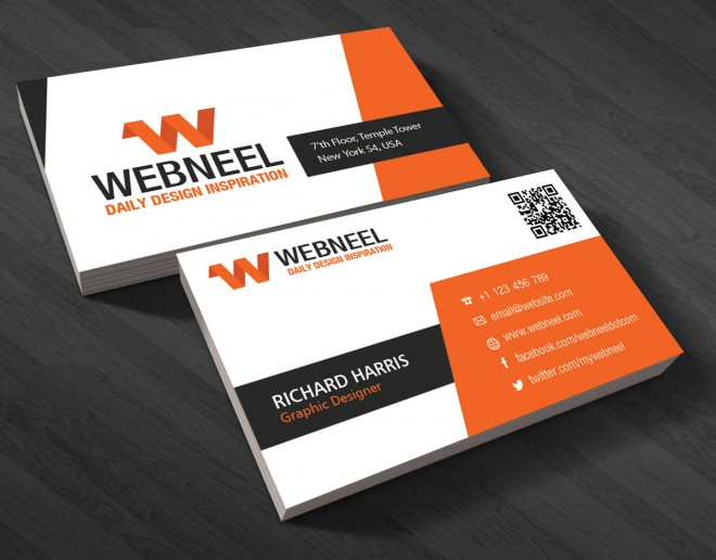 modern business card template - free download