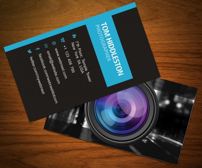 photography business card design template 37