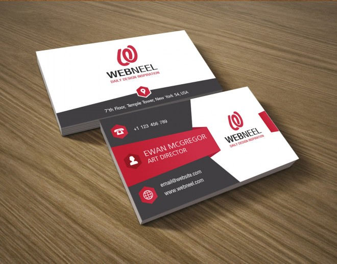 4 colorful corporate business card template
