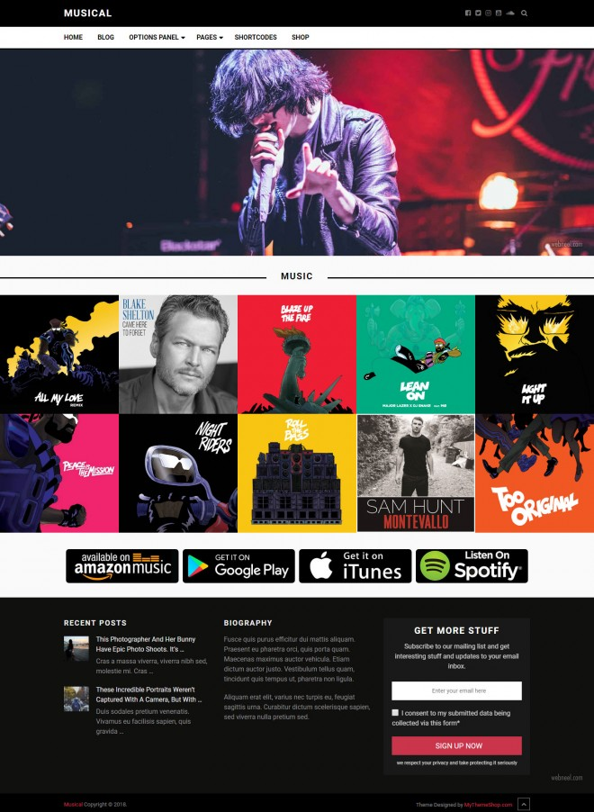 musical - free wordpress theme