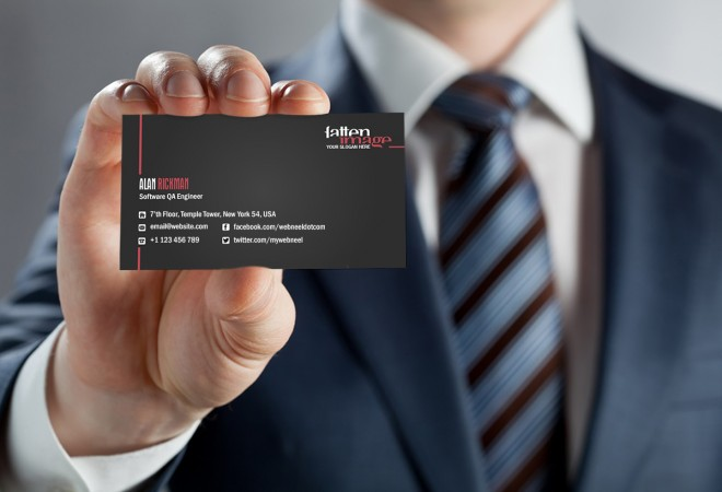 7 dark business card template