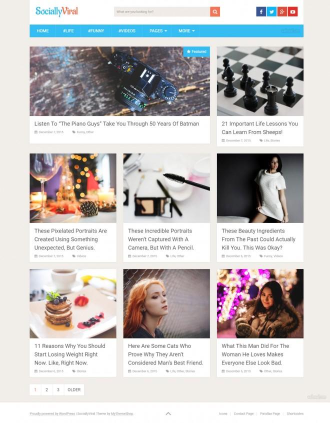 socially viral - free wordpress themes