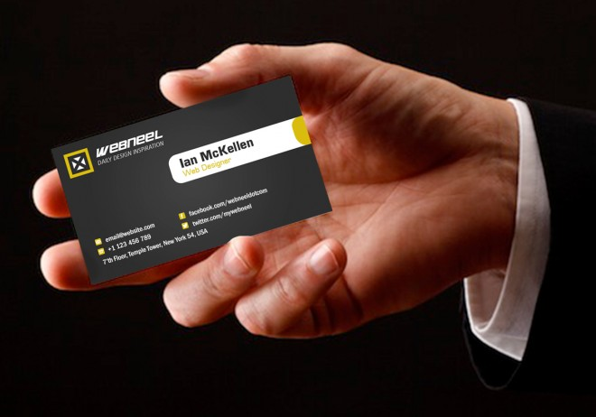 8 dark business card template