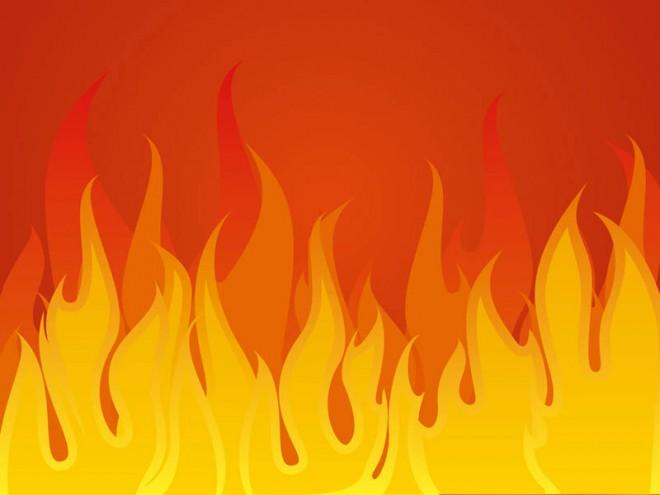 Aggressive fire Background