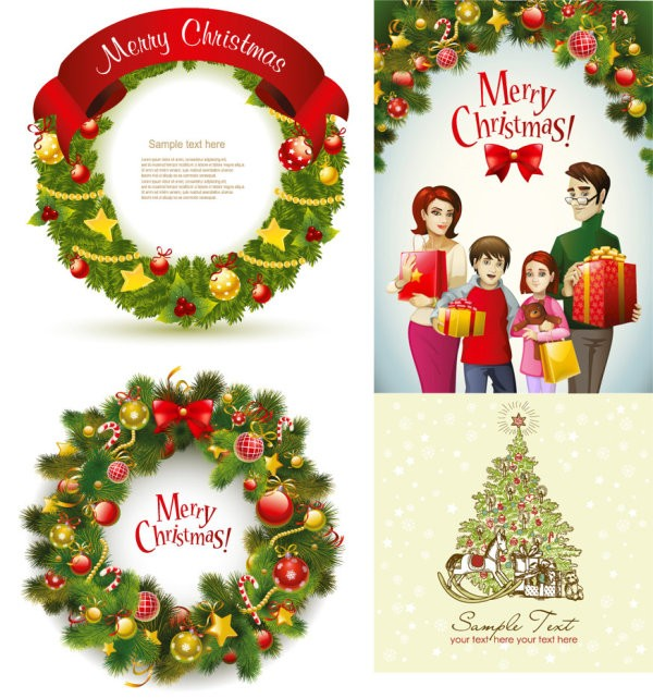 Christmas Wreath - Vector Object Christmas
