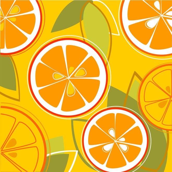 Fresh Taste of Summer Orange Floral Design