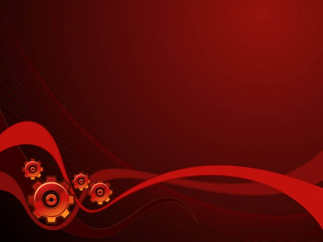 Abstract Work flow in red - Gear Background