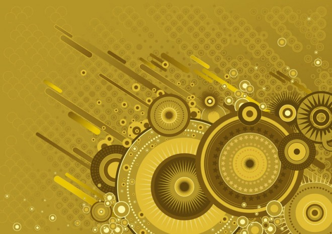Retro BG circles Background