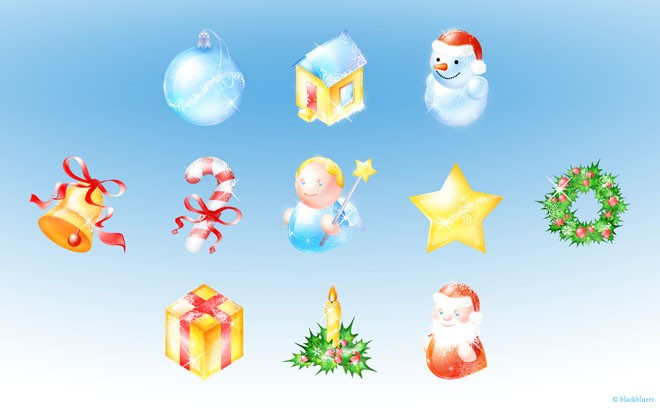 beautiful christmas pack icons