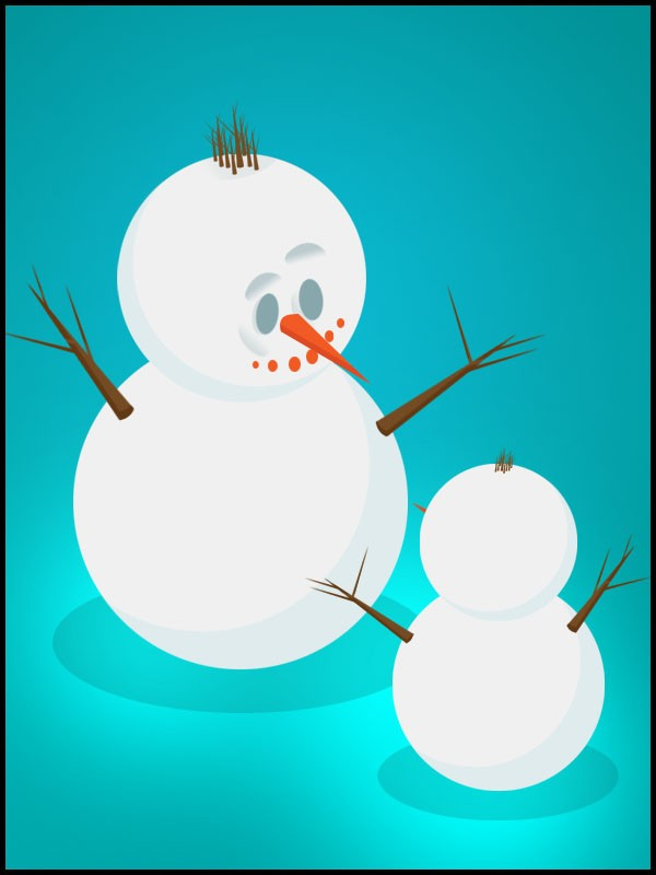 snowman - christmas eve - png