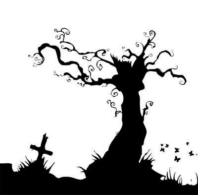 creepy tree Background