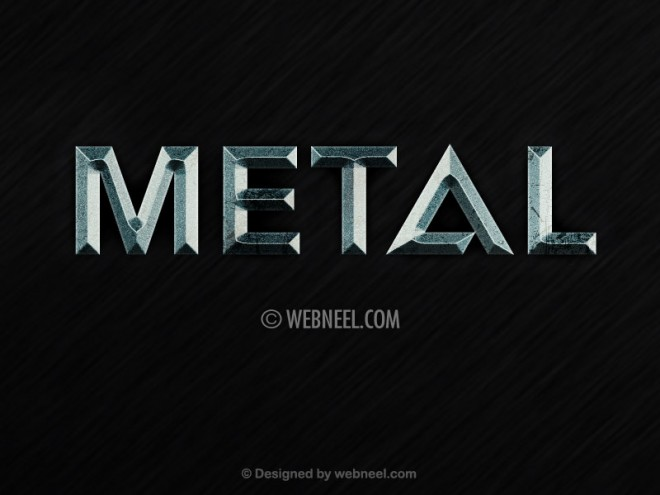 metal effect free photoshop layer style psd by webneel