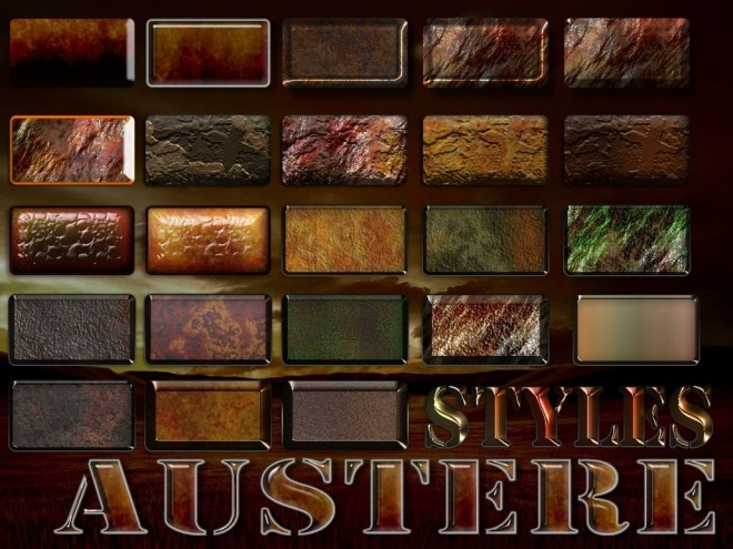 Metal Rust and Dirty Photoshop Layer Styles by manoluv Styles