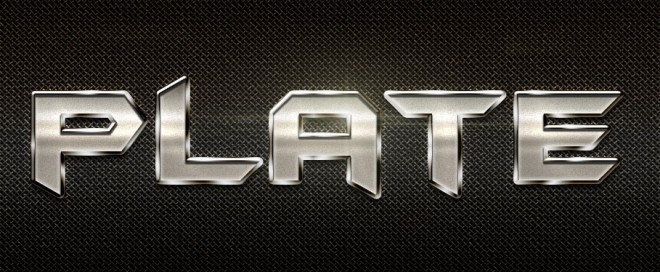 metal text effect - photoshop style