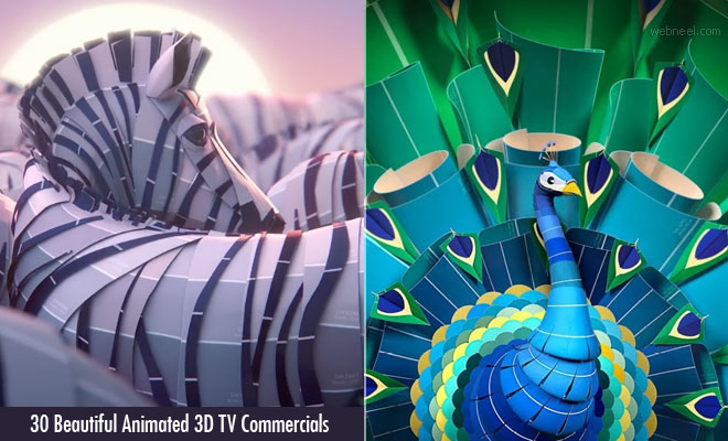 30 Beautiful Animated 3D TV Ads and Motion Graphics Special Effect TV Commercials