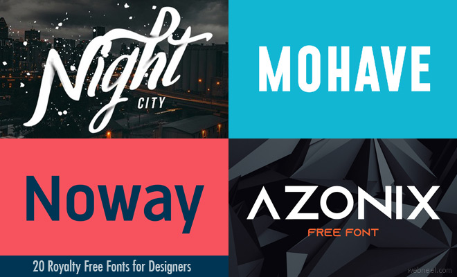 20 Royalty Free Fonts for Designers - Download Modern & Professional Fonts