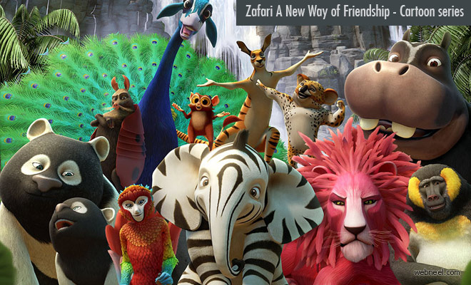 Zafari A New Way of Friendship - 3D Animation cartoon series in Spacetoon TV