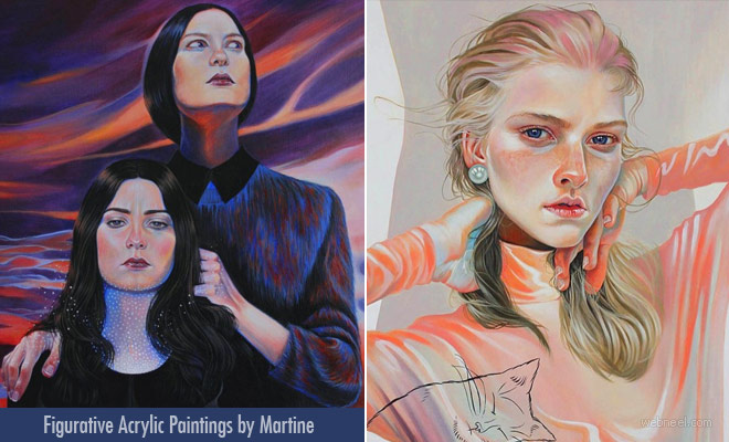 Life is but a Dream Figurative Acrylic Paintings by Martine Johanna