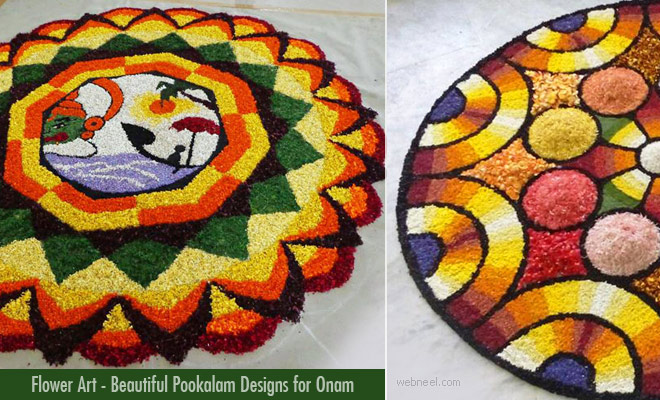 60 Beautiful Pookalam Designs for Onam Festival - Athapookalam designs