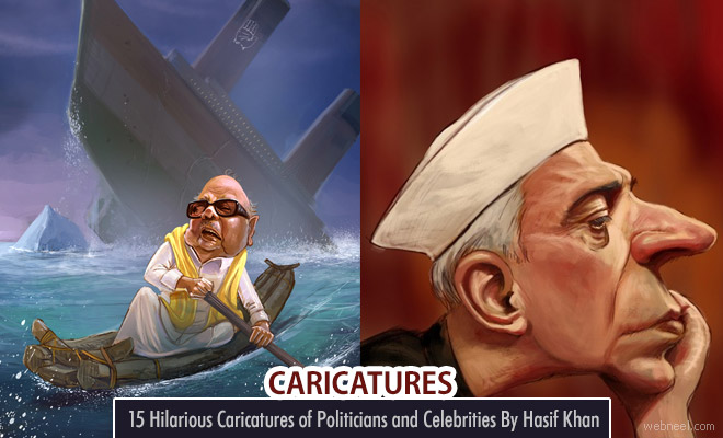 15 Hilarious Caricatures of Indian Politicians and Celebrities By Hasif Khan