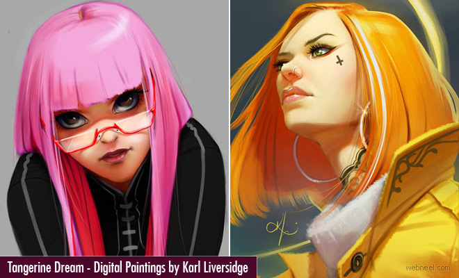 Tangerine Dream Stunning Digital Illustrations and Digital Paintings by Karl Liversidge