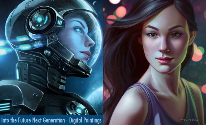 Into the Future Next Generation Digital Paintings by Ros Morales