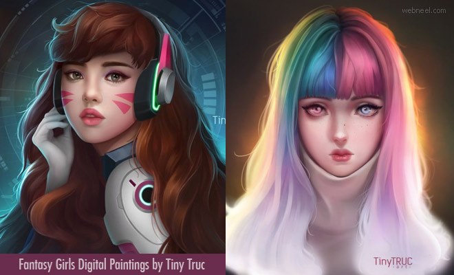 15 Beautiful and Fantasy Digital Paintings by Vietnam Artist Tiny Truc